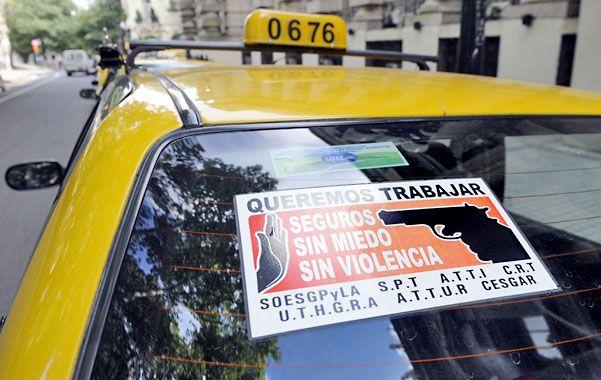 En alerta. Los taxistas ya se manifestaron en varias oportunidades para exigir mayor seguridad para el sector.