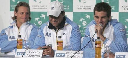 Mancini: David y Juan Martín serán los singlistas y el dobles no está definido