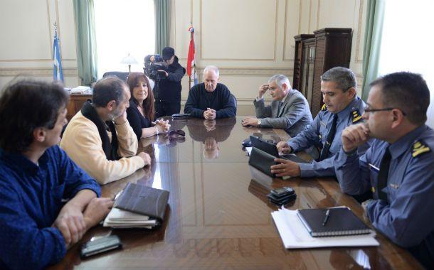 Referentes del Sindicato de Prensa con autoridades de Seguridad.