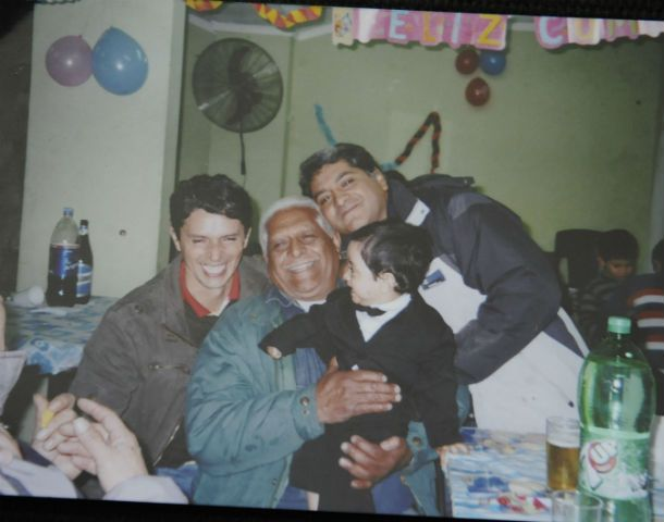 Otros tiempos. Don Antonio Galván vivía en Empalme Graneros rodeado del afecto de sus hijos y sus nietos.