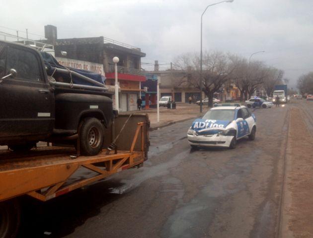 El accidente se produjo esta mañana en Lagos y Lamadrid. (Foto: S. Meccia)