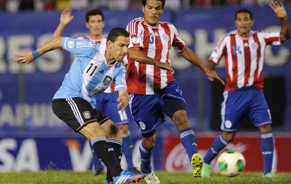 Definición Magistral. La Fiera decoró la goleada 5 a 2 ante Paraguay. Maxi estuvo en los Mundiales Alemania 06 y Sudáfrica 10.