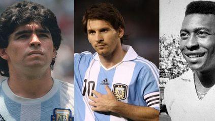 ¿Maradona, Messi, Pelé o Cristiano? Un matemático determinó quién es el mejor de la historia