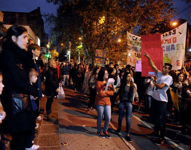 La protesta en San Martín al 3300. (Foto: G. de los Rios)