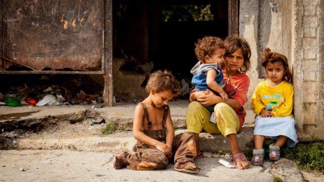 Infantilización. La pobreza se concentra en las familias con niños
