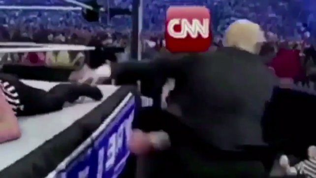 Trump redobló la pelea contra el canal de noticias CNN con un violento e inusual video