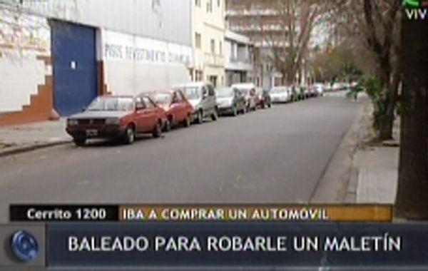 Lo balearon en la espalda para robarle un maletín en Cerrito y Entre Ríos