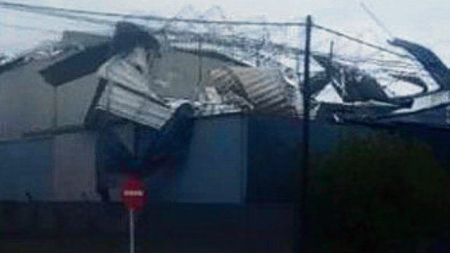 En Esperanza volaron techos.