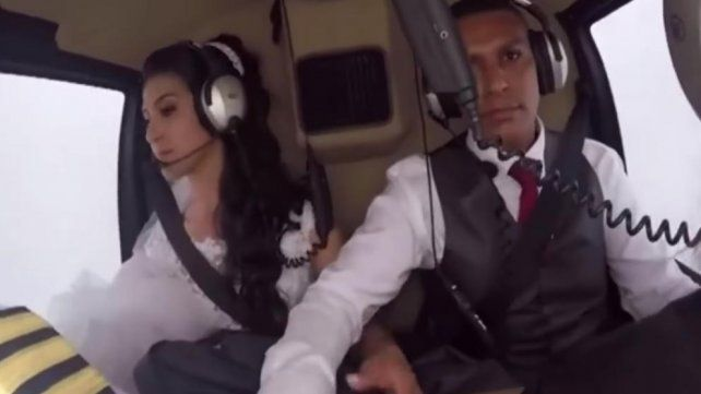 Una novia quiso llegar a la boda en helicóptero y la ocurrencia terminó en tragedia