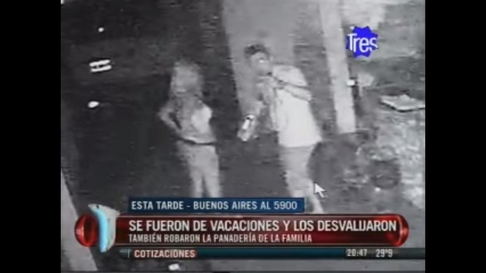 El video. Dos ladrones de la casa de Buenos Aires al 5900