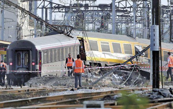 Destrucción. Los vagones tiraron abajo la estación