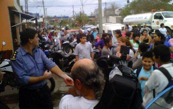 La protesta de los internos se produjo luego de recibir la visita de los familiares.