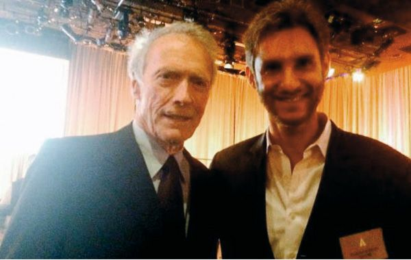 Sueño cumplido. Damián Szifrón con Clint Eastwood.