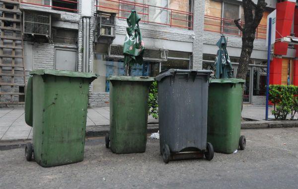 Los contenedores de la polémica ordenanza. (Foto: S. Toriggino)