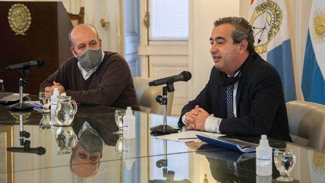 Javkin y el secretario de Salud hablaron sobre la evolución de la pandemia en la ciudad.