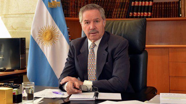 El canciller argentino.