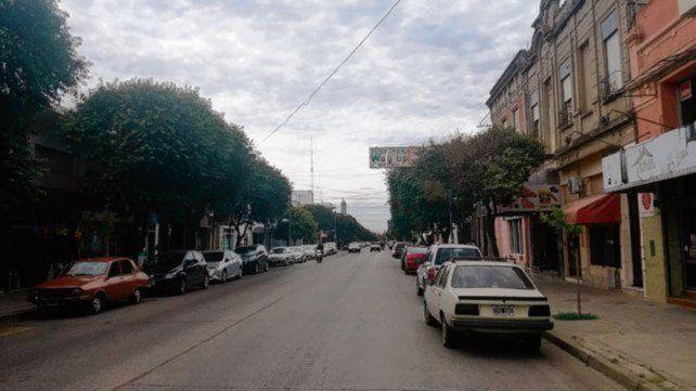 Zona céntrica de la ciudad de Casilda.
