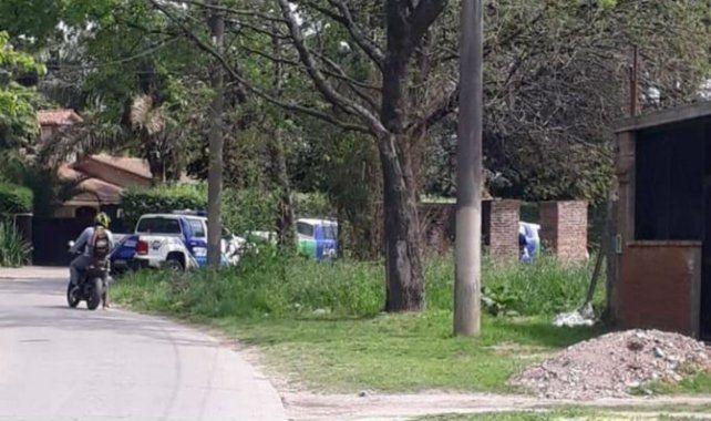 La zona donde fue encontrado el cuerpo de la joven.