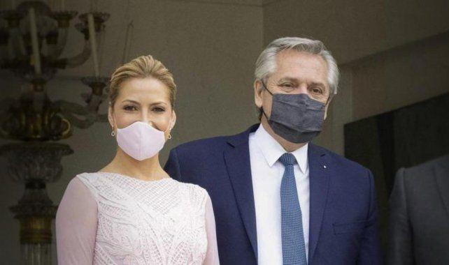 Fabiola Yañez y el presidente Alberto Fernández