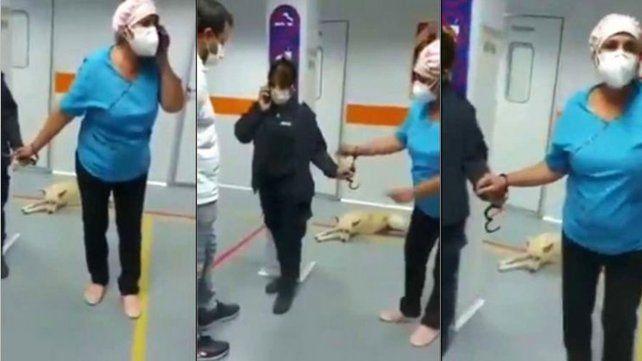 Una enfermera fue esposada por atender una emergencia antes que sacarle sangre a un preso