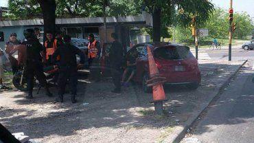 Como no hubo amenazas ni acto delictivo el incidente fue catalogado por la policía como accidente de tránsito.