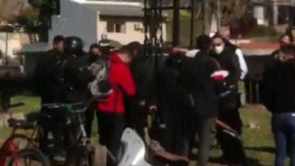 La policía y Control Urbano del municipio participaron del operativo.