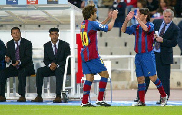 Messi tuvo el debut profesional en Barcelona el 16 de octubre de 2004 con 17 años.