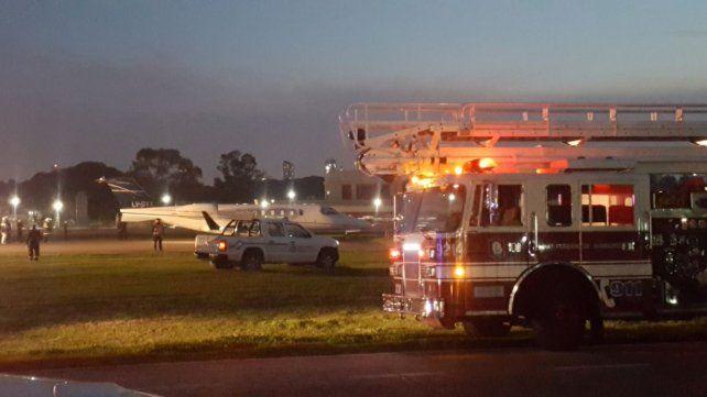 Cerrado.Aeroparque se encuentra sin funcionamiento por el despiste de un avión privado.