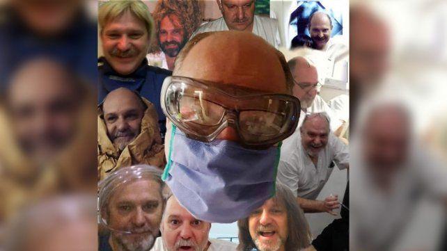 El licenciado en enfermería Daniel Lugli en un collage que él mismo había subido a su cuenta de Instagram, con los personajes que interpretaba en teatro.
