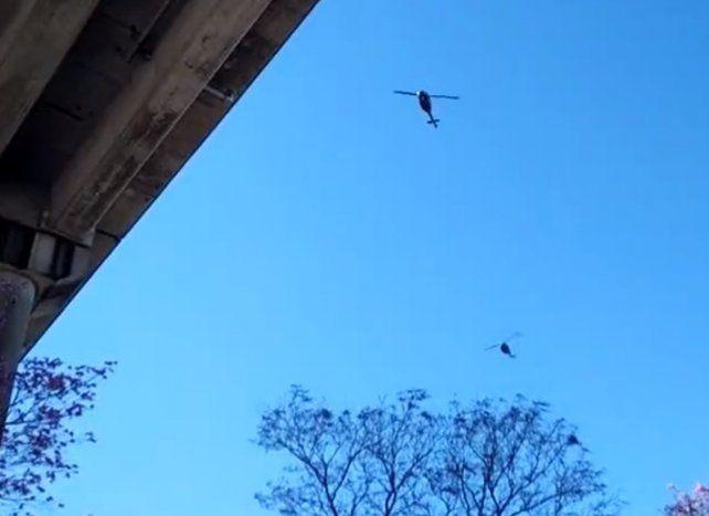 Helicópteros sobre Rosario: preocupación ante la formación que surcó el cielo de la ciudad