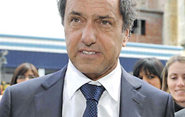 El gobernador Daniel Scioli.