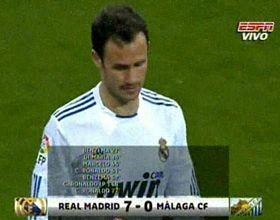 Liga española: tres de Ronaldo y uno de Di María en el monólogo de Real Madrid, que goleó 7-0 al Málaga