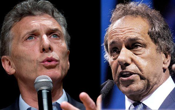 """Macri: """"El FpV describe una realidad que no es""""; Scioli: """"La devaluación genera inflación y más ajuste."""" (DyN)"""