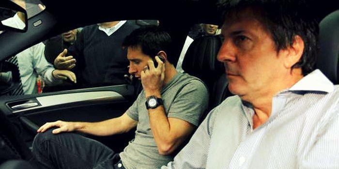 Jorge y Lionel. El papá  dijo que la temporada pasada en España en lo futbolístico fue atípica. (Foto de archivo)