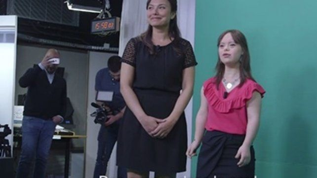 Una joven con síndrome de down cumplió su sueño de salir en TV y explotó el rating