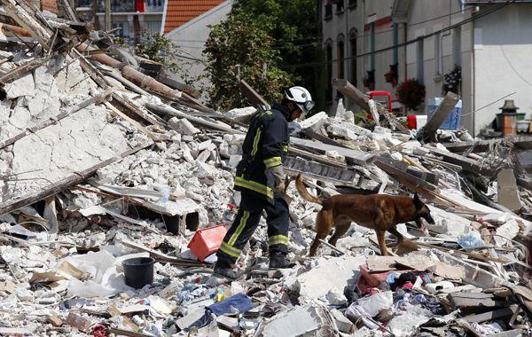 El edificio de Rosny-sous-Bois quedó reducido a escombros.