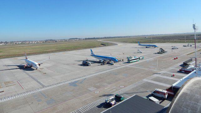 El aeropuerto internacional Islas Malvinas