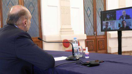 El gobernador Perotti mantuvo un encuentro virtual con el ministro de Educación nacional Nicolás Trotta.
