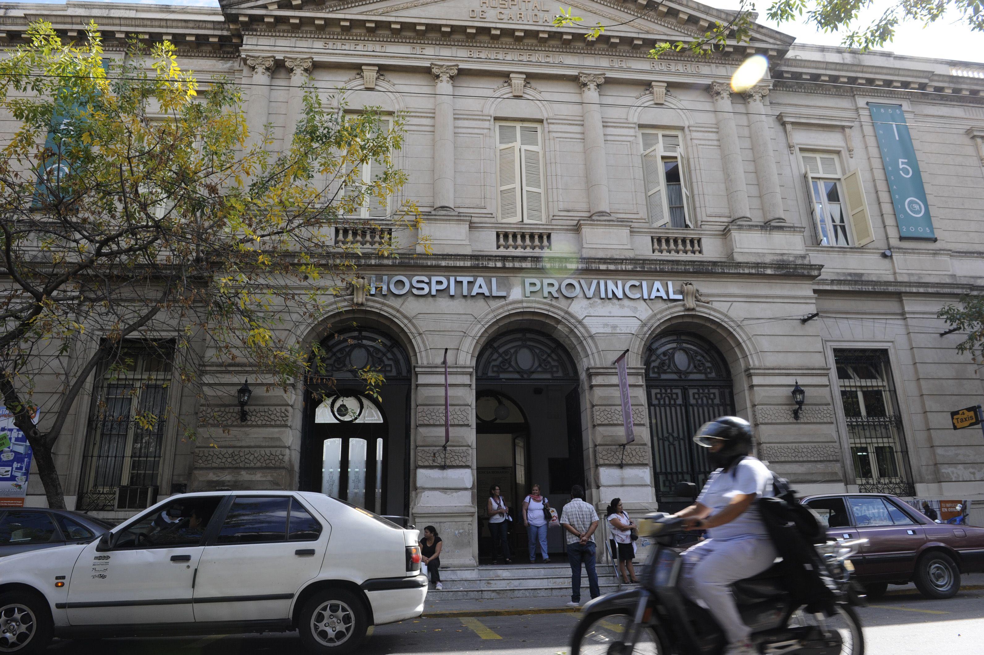 La víctima fue internada en el Hospital Provincial.