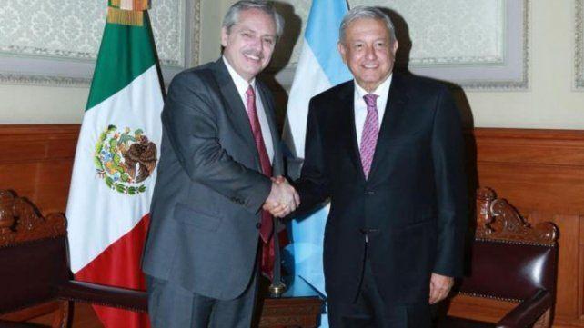 PRESIDENTES. Alberto y López Obrador en noviembre de 2019 en México.