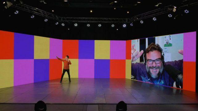 Tomás Palma se saca una selfie en plena entrevista con Jack Black