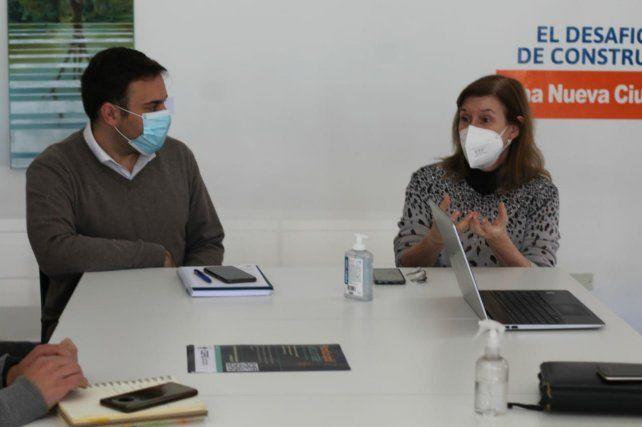 En conjunto. Gonzalo Cristini se reunió con la doctora Andrea Uboldi.