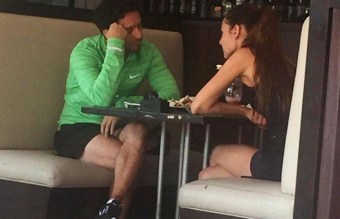Pampita increpó duramente a Benjamín Vicuña durante el encuentro en un club de tenis.