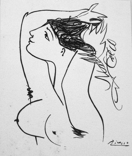 Litografía de Pablo Picasso (1881-1972).