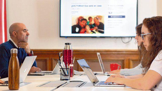Nueva plataforma. Directivos de Change.org se reunieron con dirigentes de todo el arco político de la ciudad con motivo del año electoral.