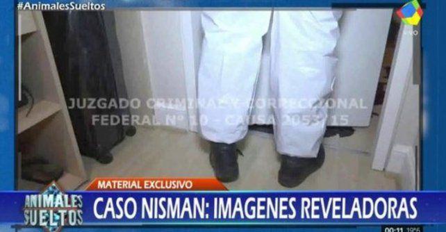 En Animales sueltos revelaron un video inédito del peritaje en la casa de Nisman