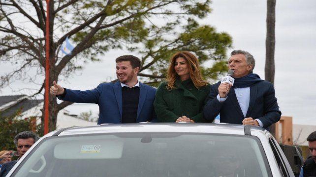 Referentes. Angelini junto a Macri