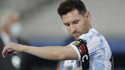 El argentino Lionel Messi, Copa América en el estadio Nilton Santos en Río de Janeiro, Brasil, el lunes 14 de junio de 2021 (AP Photo / Ricardo Mazalan)