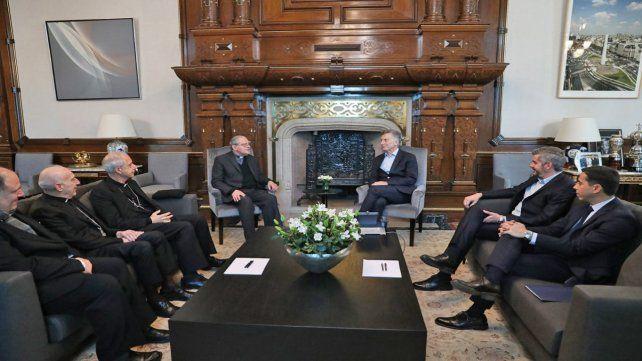 A mediados de esta semana el presidente Macri recibió a la conducción del Episcopado.
