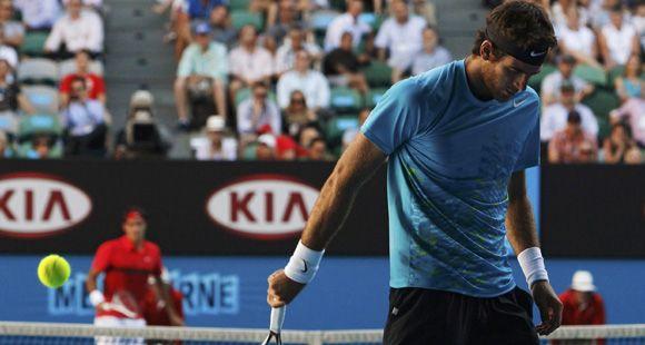 Del Potro no pudo con un implacable Federer y se despidió del Abierto de Australia